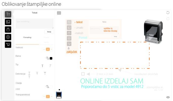 oblikovanje stampiljke online